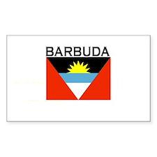Barbuda Flag Rectangle Decal