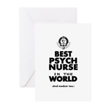The Best in the World Nurse Psych Greeting Cards