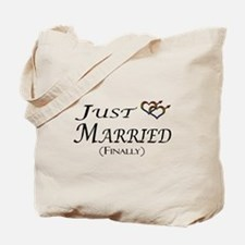Finally Married Gay Pride Tote Bag
