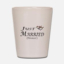 Finally Married Gay Pride Shot Glass