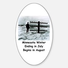 Winter in... Oval Decal