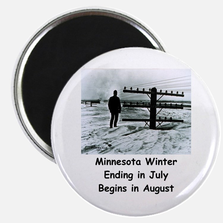 "Winter In... 2.25"" Magnet (10 Pack) Magnets"