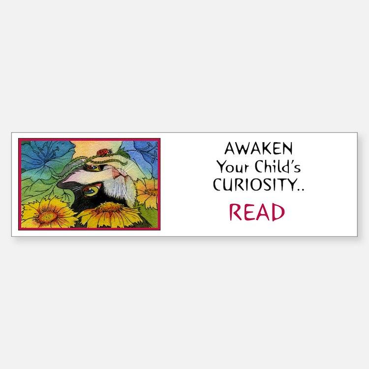 AWAKEN CURIOSITY-READ Bumper Bumper Bumper Sticker
