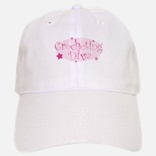 """Crocheting Diva"" [pink] Baseball Baseball Cap"