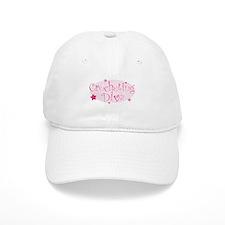 """Crocheting Diva"" [pink] Baseball Cap"
