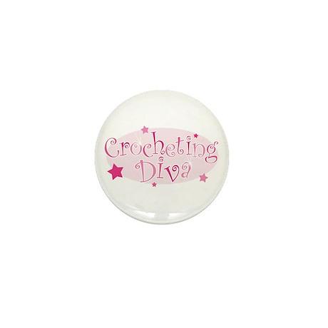 """""""Crocheting Diva"""" [pink] Mini Button"""