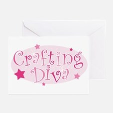 """""""Crafting Diva"""" [pink] Greeting Cards (Package of"""