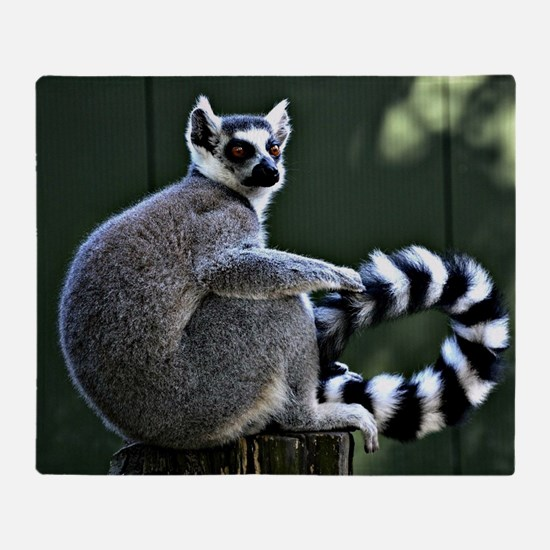 Ring-tailed lemur Throw Blanket