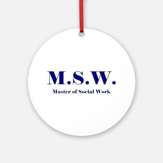 MSW (Design 2) Ornament (Round)