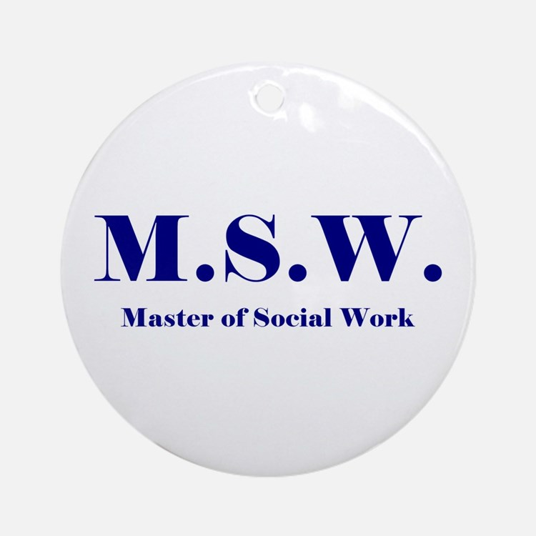 MSW (Design 2) Ornament (Round)