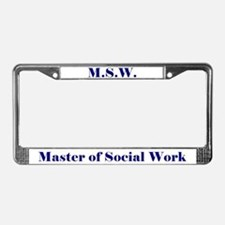 MSW (Design 2) License Plate Frame