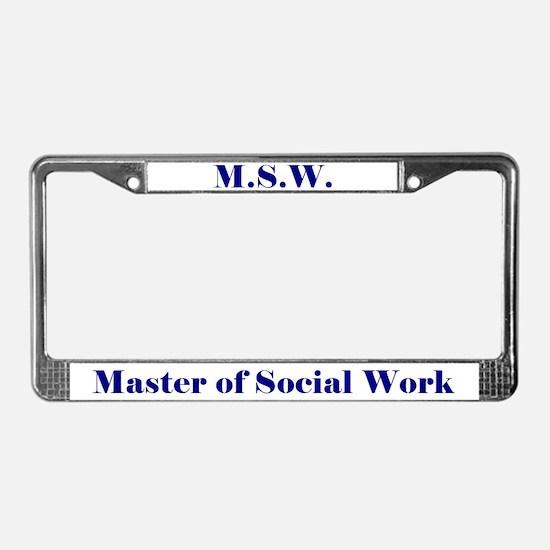 MSW (Design 2) License Plate Frame