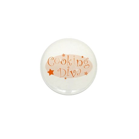 """Cooking Diva"" [orange] Mini Button"