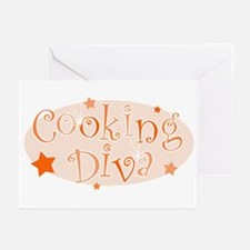 """""""Cooking Diva"""" [orange] Greeting Cards (Package of"""