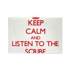 Keep Calm and Listen to the Scribe Magnets