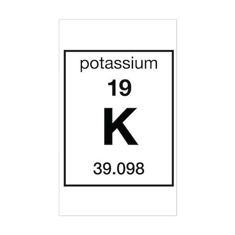 Potassium Rectangle Sticker