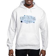 """Quilting Diva"" [blue] Hoodie"