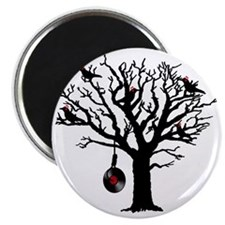 Musical Birds in Tree 1 rot Hangman Vinyl Magnet
