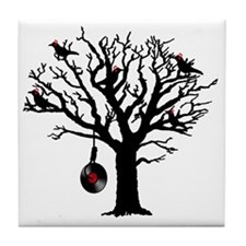 Musical Birds in Tree 1 rot Hangman V Tile Coaster