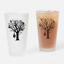 Musical Birds in Tree 2 Hangman blu Drinking Glass