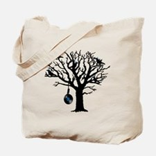 Musical Birds in Tree 2 Hangman blue viny Tote Bag