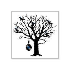 "Musical Birds in Tree 2 Han Square Sticker 3"" x 3"""