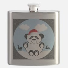 Christmas Panda Bear  Flask