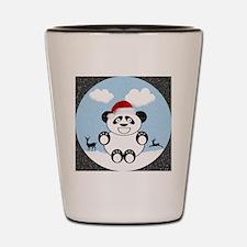 Christmas Panda Bear  Shot Glass