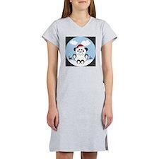 Christmas Panda Bear  Women's Nightshirt