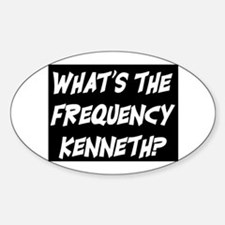 WHAT'S THE FREQUENCY? Sticker (Oval)