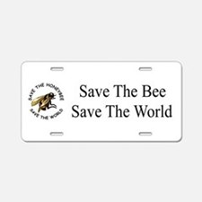 Save The Bee Aluminum License Plate