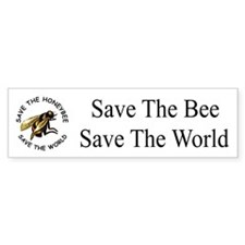 Save The Bee Bumper Bumper Bumper Sticker