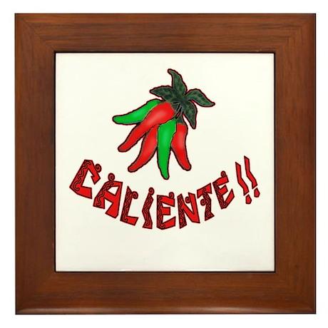 Caliente Chili Peppers Framed Tile