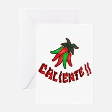 Caliente Chili Peppers Greeting Cards (Package of