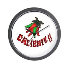 Caliente Chili Peppers Wall Clock