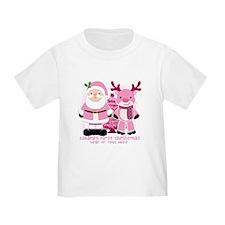 Personalize Pink Santa! T
