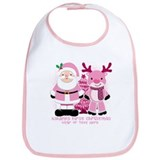 Babys first christmas Cotton Bibs