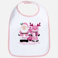 Personalize Pink Santa! Bib