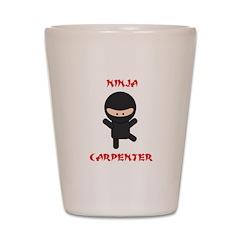 Ninja Carpenter Shot Glass