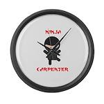 Ninja Carpenter Large Wall Clock