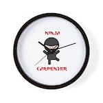 Ninja Carpenter Wall Clock