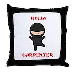 Ninja Carpenter Throw Pillow