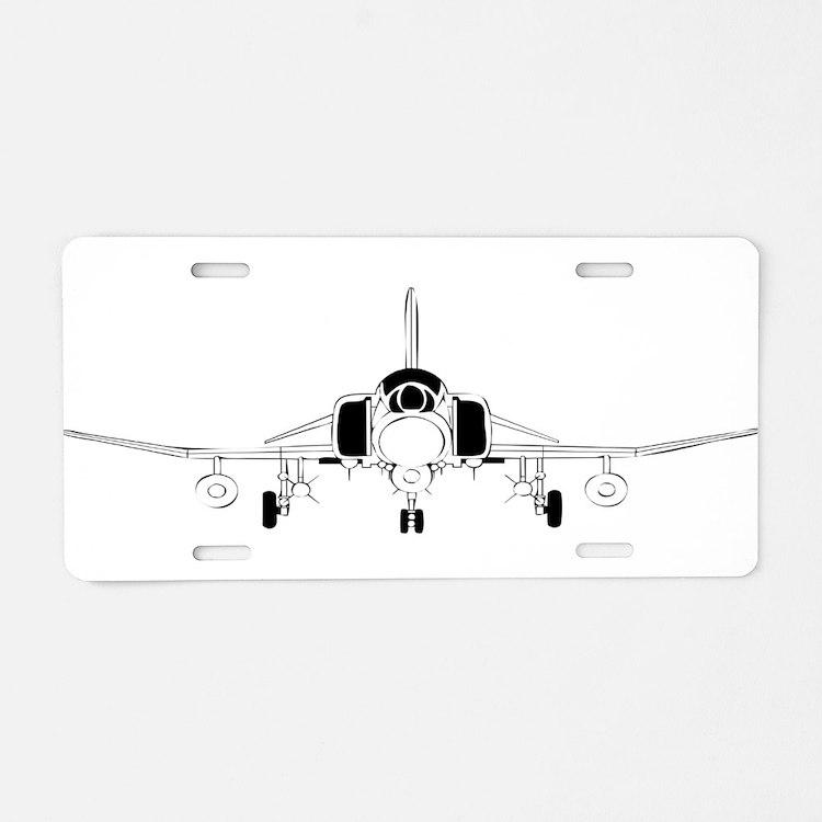 Air Force Jet Aluminum License Plate