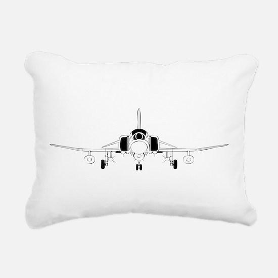 Air Force Jet Rectangular Canvas Pillow