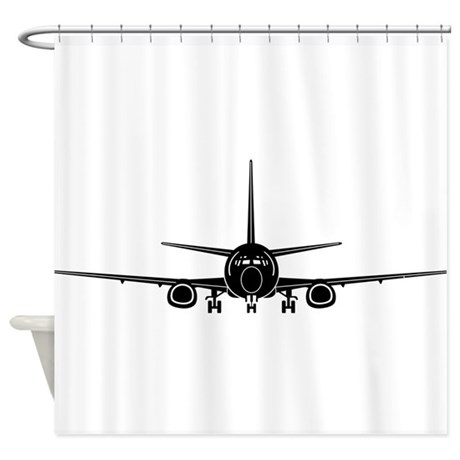 Delightful Airplane Shower Curtain
