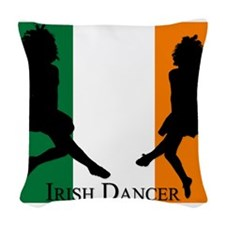 Irish Dancer (Flag) Woven Throw Pillow