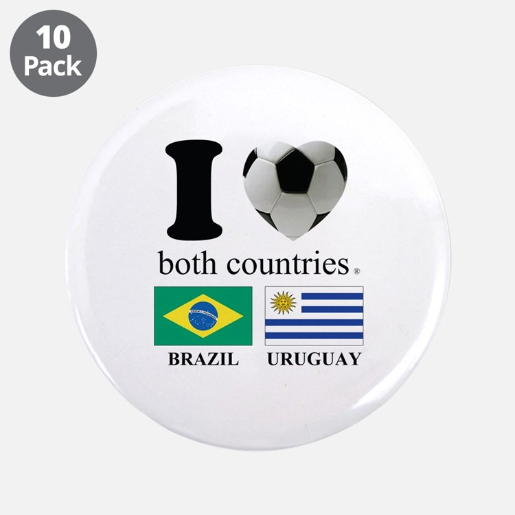 "BRAZIL-URUGUAY 3.5"" Button (10 pack)"