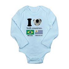 BRAZIL-URUGUAY Long Sleeve Infant Bodysuit