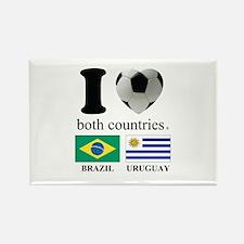 BRAZIL-URUGUAY Rectangle Magnet