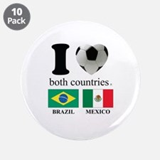 """BRAZIL-MEXICO 3.5"""" Button (10 pack)"""
